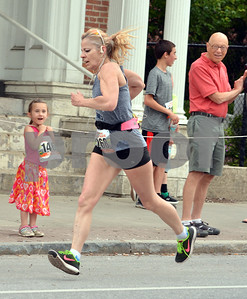 Photo by Albert J. Marro   The 41st Annual Crowley Brothers Memorial 10k Road Race was held Sunday morning with a run from Proctor to downtown Rutland. Sheila Alexander of Rutland finsihed second in the women's 5k event.