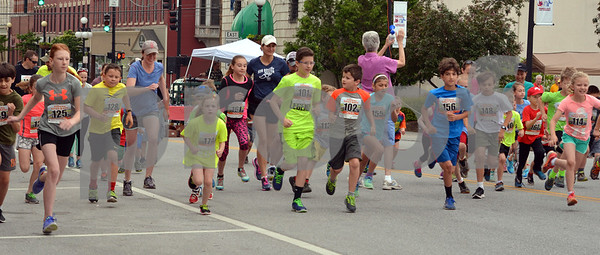 Photo by Albert J. Marro   The 41st Annual Crowley Brothers Memorial 10k Road Race was held Sunday morning with a run from Proctor to downtown Rutland. The day kicked off with a one mile children's race which drew dozens of future long distance runners. That race started and ended on Merchants Row.