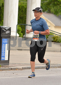 Photo by Albert J. Marro   The 41st Annual Crowley Brothers Memorial 10k Road Race was held Sunday morning with a run from Proctor to downtown Rutland. Caryn Etherington of Middlebury won the women's 5k event.