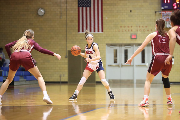 McKeesport Tigers defeat Oakland Catholic Eagles 59-43 in WPIAL Class 5A first round high school girls basketball playoff game at Neenie Campbell Gymnasium, McKeesport, Pa. March 4, 2021.