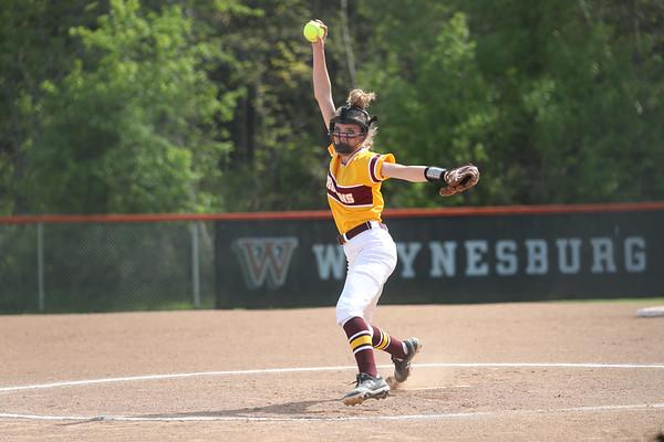 WPIAL varsity softball Section 3-2A playoff, preliminary-round game, California defeats Bentworth 14-1, at Waynesburg Univ., May 17, 2021.