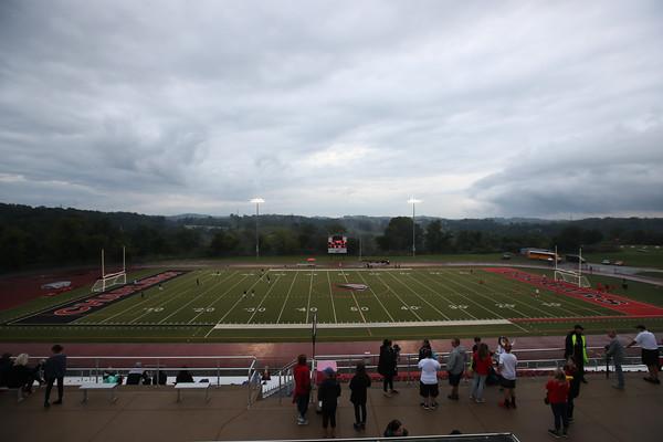 Charleroi High School boys varsity soccer team defeats Waynesburg Central High School 5-0 at Myron Pottios Stadium, Charleroi, Pa., Sept. 15,  2021.