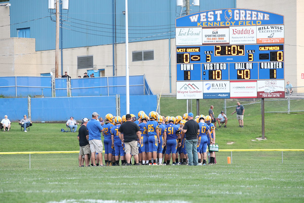 West Greene High School varsity football team defeated California 48-22, Kennedy Field, Waynesburg, Pa. Sept. 17 2021.