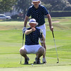 Swampscott, Ma. 8-3-17. Ryan Hawley, standing, and Tom Burke during four ball play at Tedesco Country Club.