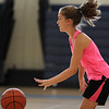 Peabody, Ma. 8-7-17. Katie Amico doing dribbling drills at girl's basketball camp at Higgins Middle School.