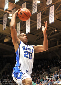 Duke Blue Devils Andre Dawkins goes for the basket during the basketball game between the Colorado State Rams and the Duke Blue Devils at Cameron Indoor Stadium, Durham, North Carolina.