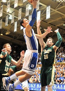 Duke Blue Devils Guard Austin Rivers scores during the basketball game between the Colorado State Rams and the Duke Blue Devils at Cameron Indoor Stadium, Durham, North Carolina.