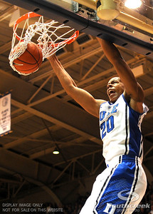 Duke's Andrew Dawkins dunks the ball during the basketball game between the Colorado State Rams and the Duke Blue Devils at Cameron Indoor Stadium, Durham, North Carolina.