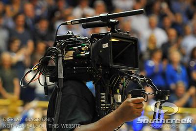 Duke and North Carolina battle to determine the ACC regular season champions during the basketball game between the UNC Tarheels  and the Duke Blue Devils at Cameron Indoor Stadium, Durham, North Carolina. UNC beat Duke 88-70.