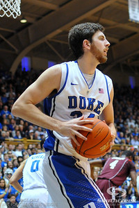 Duke and Virginia Tech players are seen during the basketball game between the Virginia Tech Hokies  and the Duke Blue Devils at Cameron Indoor Stadium, Durham, North Carolina. Duke beat Virginia Tech 70-65 in overtime.