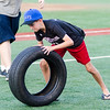 Ryan Laws participates in the Bennett Tire Bowl at the Navigators game Friday; August 4; 2017.