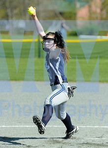 Jeb Wallace-Brodeur / Staff Photo Randolph pitcher Kiara Nonemacher fires to the plate during the Galloping Ghosts' game against BFA Fairfax on Friday.