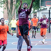 Gilbert Minaya of the Young Gunz high school team puts up a shot during the first day of the Shoe City Classic.