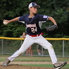 Swampscott reliever Jonah Cadorette shut down Peabody West before giving up a run in the eighth inning.