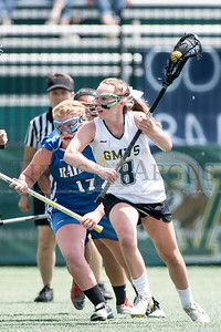 GMVS's Maggie Beardsley advances the ball against U-32 during Saturday's Division Two Championship matchup at UVM.  Josh Kuckens/Staff Photo