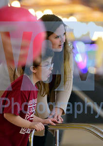 Jeb Wallace-Brodeur / Staff Photo Harwood's Destiny Mason watches her shot Thursday with teammate Sophia LaPerle during the Unified Sports Central Vermont Bowling Tournament at Twin City Lanes in Berlin.