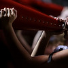 Nadav Soroker/Times-Georgian<br /> <br /> A cheerleader shouts into her horn at the Bowdon Homecoming game against North Cobb, at Bowdon High School, on Friday, September 21, 2018.