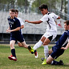 Nadav Soroker/Times-Georgian<br /> <br /> Bowdon Red Devil Rigo Rosas scores a goal against the Haralson Rebels at Haralson County High School, 2019. The Red Devils took the rebels down 6-1.