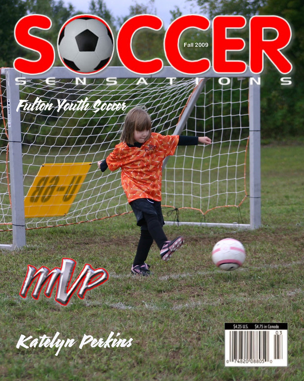 Magazine Cover 1 - Price=$18  <br /> <br /> Provide: Player Name