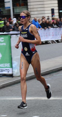 Cassandre Beaugrand at the WTS Leeds Triathlon 2019