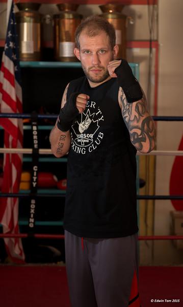 Photo shoot at Border City Boxing - September 1, 2015.