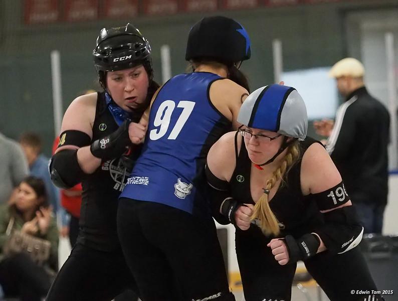 Border City Brawlers All Stars vs Wellington Fergus Feims at Adie Knox Arena in Windsor, Ontario on April 25, 2015.