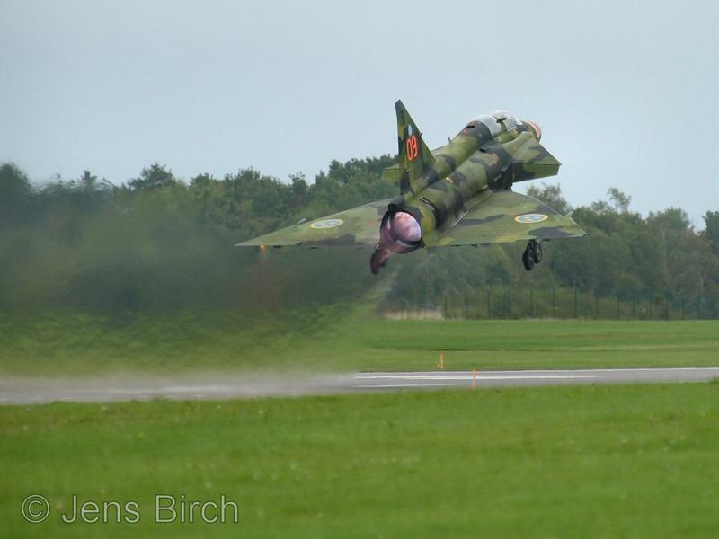 SAAB 37 Viggen, skolversion, take off