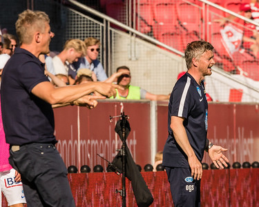 """""""The Managers"""" from Brann vesus Molde yesterday."""