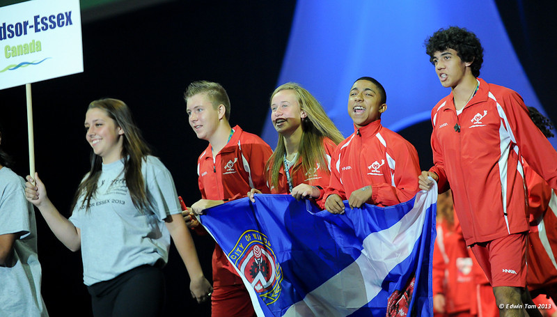 International Childrens Games in Windsor, Ontario, Canada - Opening Ceremonies at the WFCU Centre on the evening of August 15, 2013.
