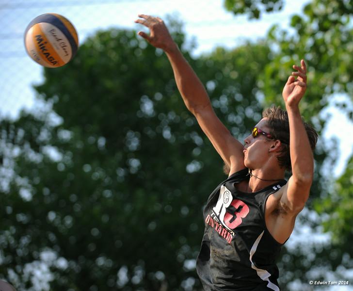 The 2014 Ontario Summer Games held in Windsor, Ontario, August 7-10, 2014. Beach volleyball held at Sandcastle on August 10, 2014. Boys Bronze Medal match between M.Law-Heese/N.Trewern vs M.Sears/J.Rudd (Bronze).