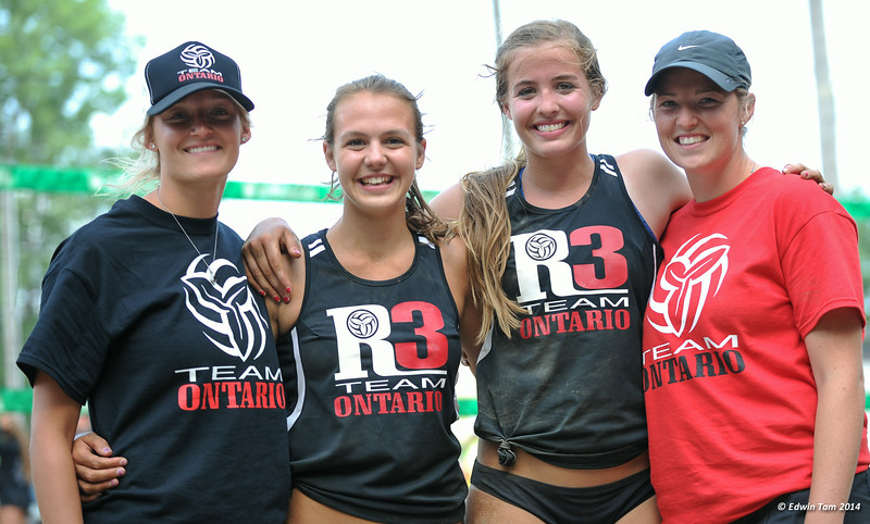The 2014 Ontario Summer Games held in Windsor, Ontario, August 7-10, 2014. Beach volleyball held at Sandcastle on August 10, 2014. Girls Gold Medal match between J.Francis/M.McBain (Silver) vs B.Sestric/M.Lethbridge (Gold).