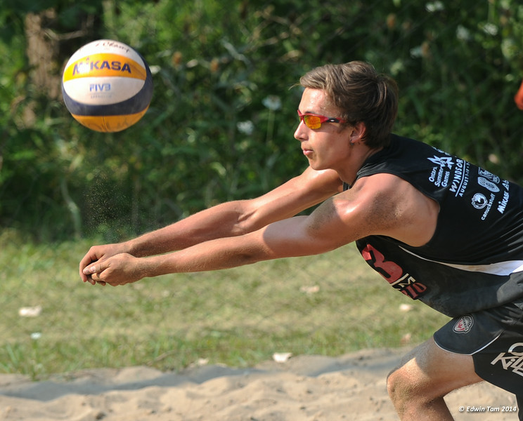 The 2014 Ontario Summer Games held in Windsor, Ontario, August 7-10, 2014. Beach volleyball held at Sandcastle on August 10, 2014. Boys Bronze Medal match between M.Law-Heese/N.Trewern vs M.Sears/J.Rudd (Bronze).