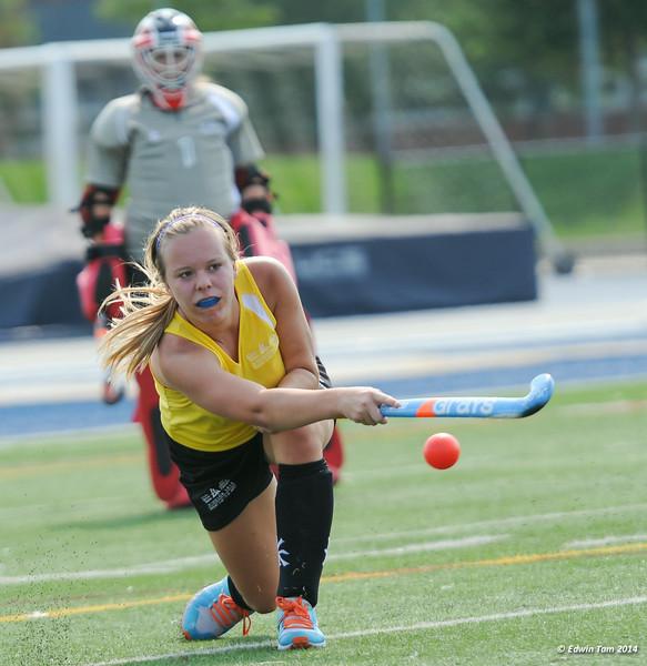 The 2014 Ontario Summer Games held in Windsor, Ontario, August 7-10, 2014. Girls field hockey held at Alumni Field, University of Windsor on August 8, 2014.