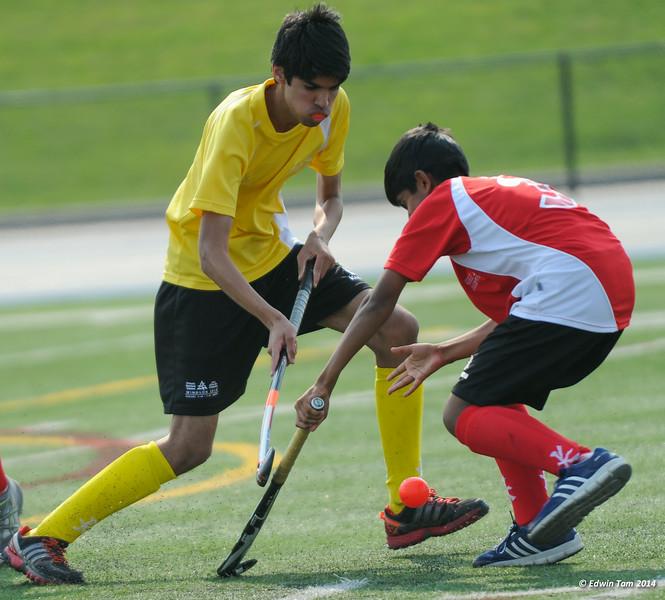 The 2014 Ontario Summer Games held in Windsor, Ontario, August 7-10, 2014. Boys field hockey held at Alumni Field, University of Windsor on August 8, 2014.