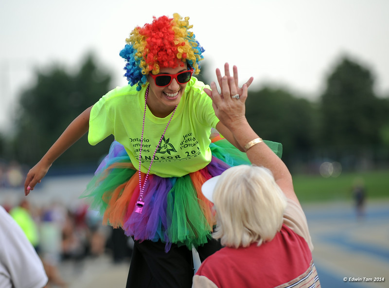 The 2014 Ontario Summer Games held in Windsor, Ontario, August 7-10, 2014. The opening ceremony at the Alumni Field, University of Windsor on August 7, 2014.