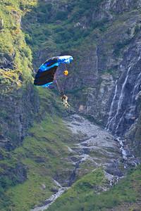Base Jumping Show, Gudvangen, 2nd July 2011