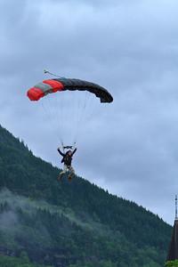 Skydiving Show, Prestegardslandet, 27th June 2011