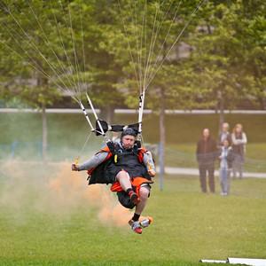 Skydiving Show, Prestegardslandet, 30th June 2011