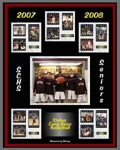 2007-08 Basketball Senior Tribute by Memories by Murray  - presented to the 5 Station Camp Seniors L'Darius Moore, Jeff Terrell, Damon Hutcheson, Cody Brown and Quinton West on Senior Night February 5, 2008