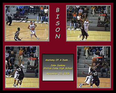 Anatomy of a Dunk - An action sequence of a spectacular slam dunk shot by John Jenkins during the November 29, 2008 Bison home opener against East Robertson