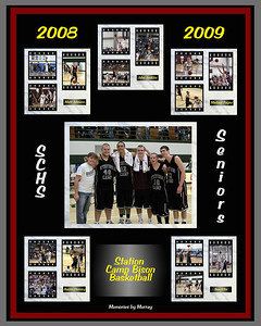 Congratulations to the 2009 Basketball Senior Men who completed a terrific season in early March, having achieved a 24 - 7 record, including:  undefeated 12 - 0 play in District 8 AA, a District 8 AA Tournament Championship and an opening round Region 4 win - This photo is a gift composite that I created to honor the 2009 Station Camp Bison Senior Men (Matt Johnson, John Jenkins, Michael Payne, Austin Piercey, Ben Ellis) - note:  Austin Broadrick is also pictured