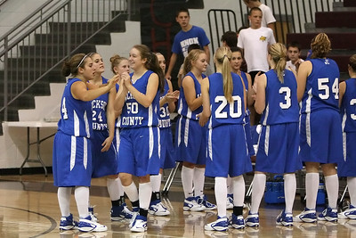Jackson County Lady Blue Devils make their introductions
