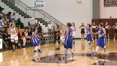 Hughes brings the ball up court to begin the 2nd half