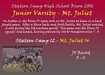 Junior Varsity - Mt. Juliet