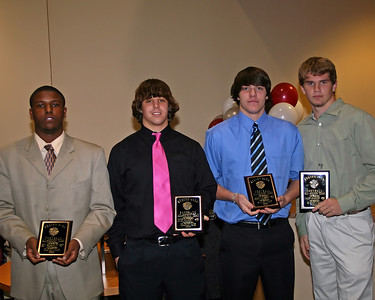Ben Roberts, Seth Poskey, Jordan Hamblen and Jacob Barker - members of the All Region Team
