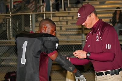 Coach Trent tapes Toney's arm
