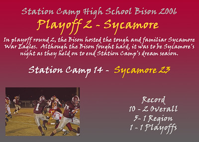 Game 12 - Playoff Round 2 - Sycamore