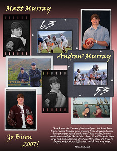 A personal tribute for Matthew and Andrew Murray - 2007 Bison Football Guide