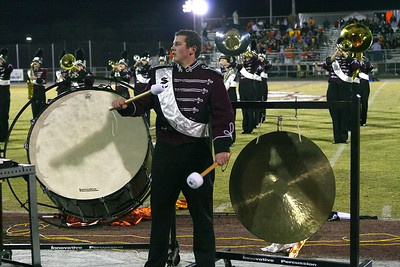 Herd percussionist calls the band to order...
