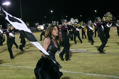 Twirling in time with the band